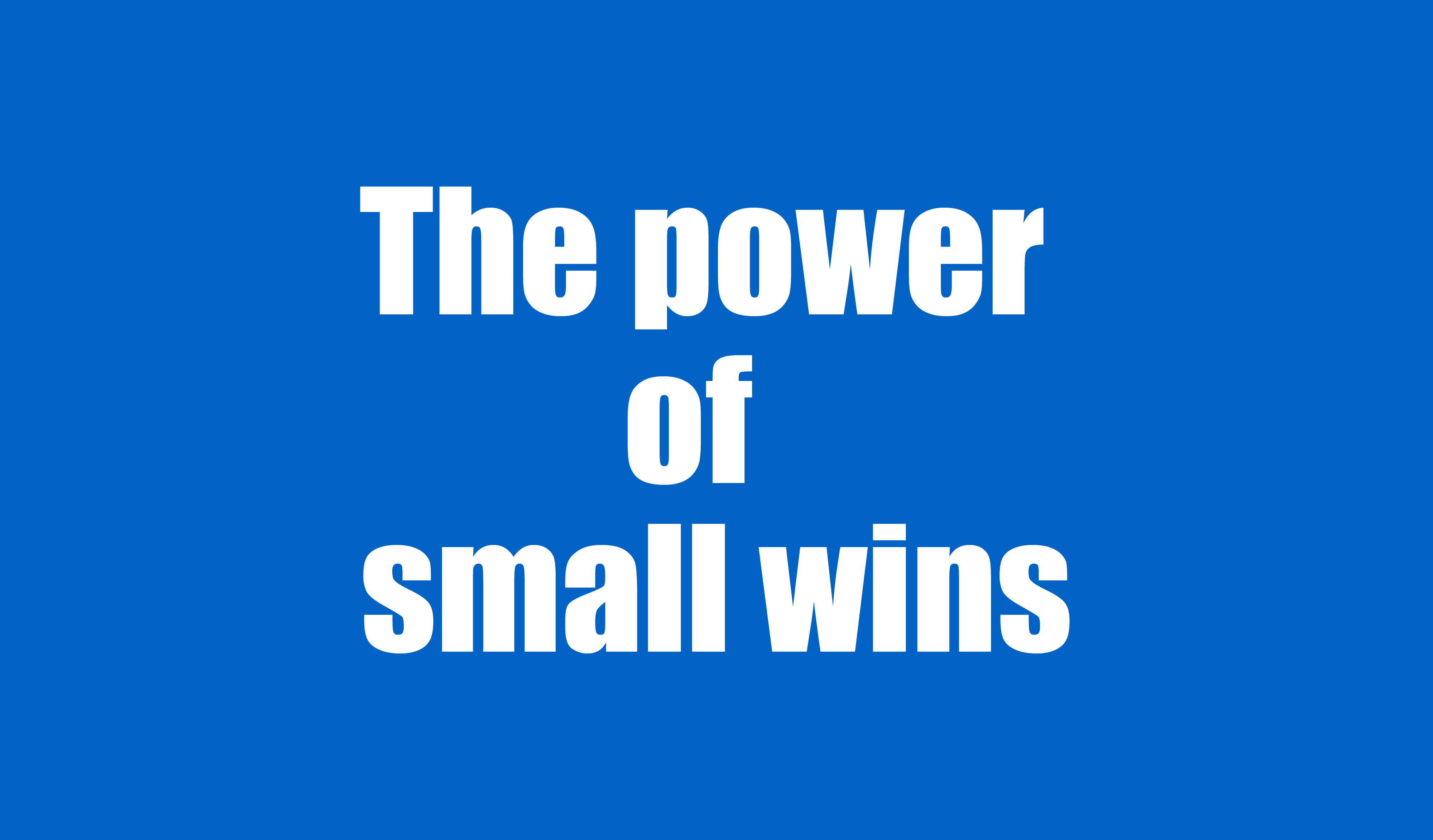 small-wins